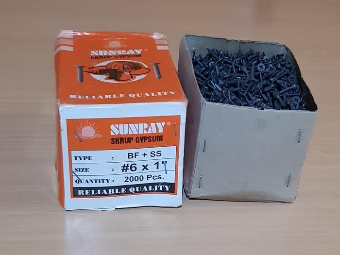 Sunray Sekrup Gypsum #6 X 1