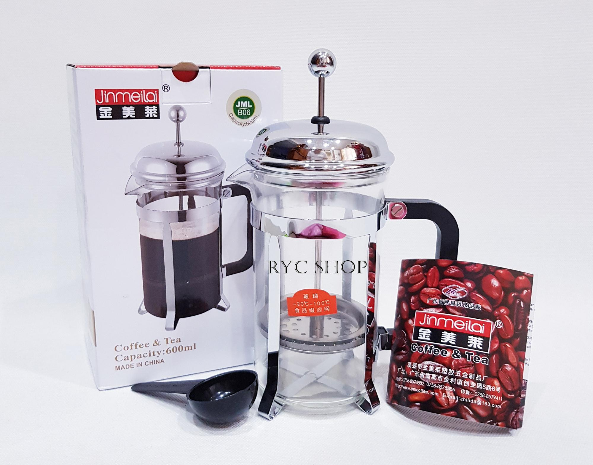 FRENCH PRESS 600 ML / Coffee Plunger / Coffee Maker 600 ml for 3-6 Cups TERMURAH