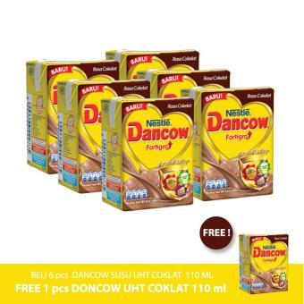 Daftar Harga DANCOW Susu UHT Coklat 110ml [6pcs] - Gratis 1 pcs terbaik murah - Hanya Rp14.160
