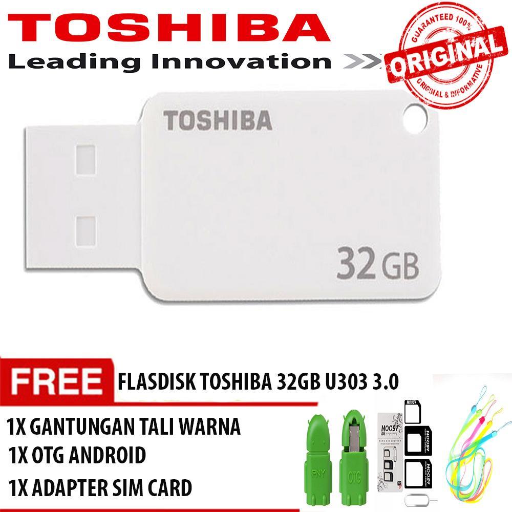 Harga Flashdisk Toshiba 32 Gb U303 Usb 30 Original Free Otg Adapter 32gb Fd Sim Card Gantungan Tali Warna Rp 151900