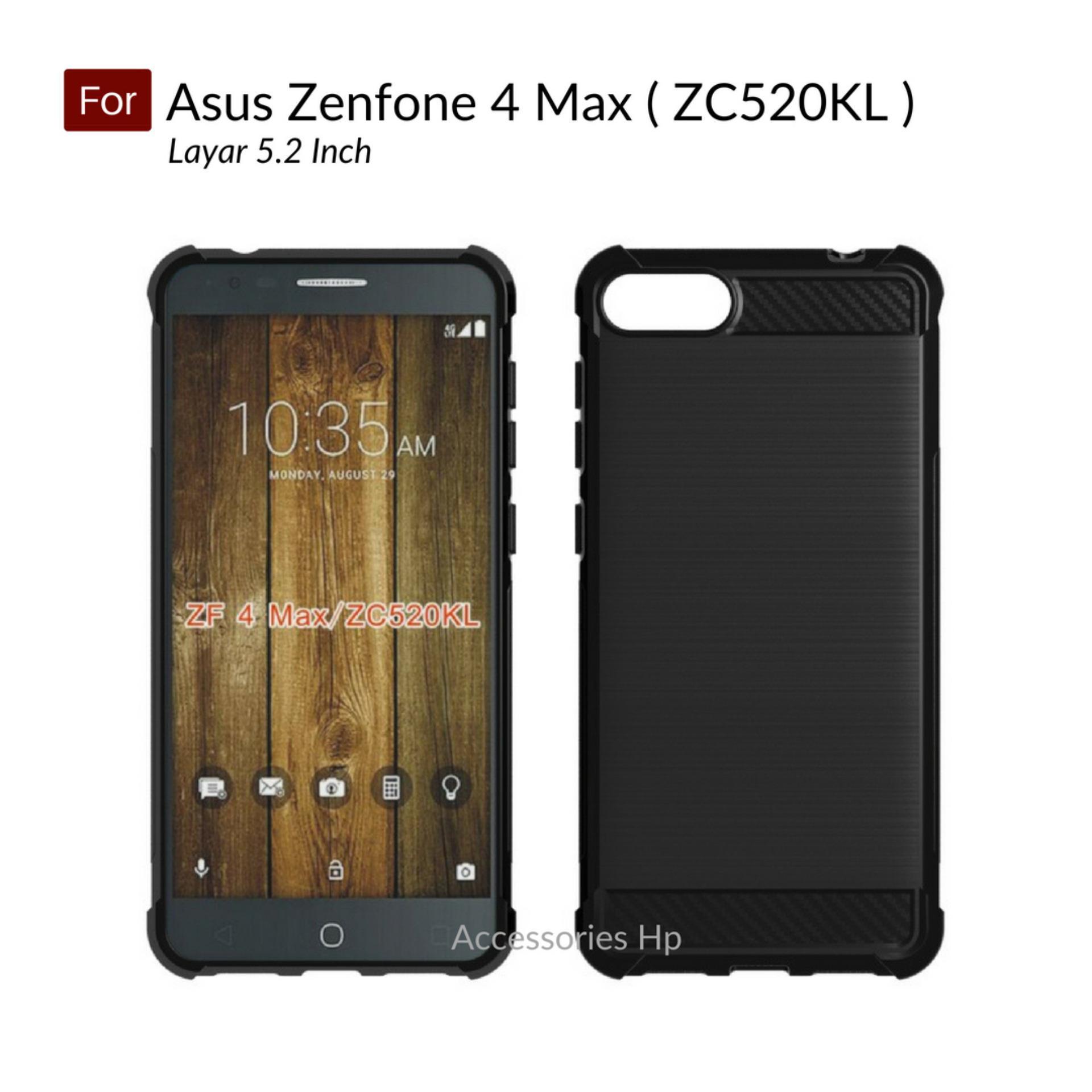 Accessories Hp Brushed Carbon Crack Case Asus Zenfone 4 Max 5.2 inch ( ZC520KL ) - Black