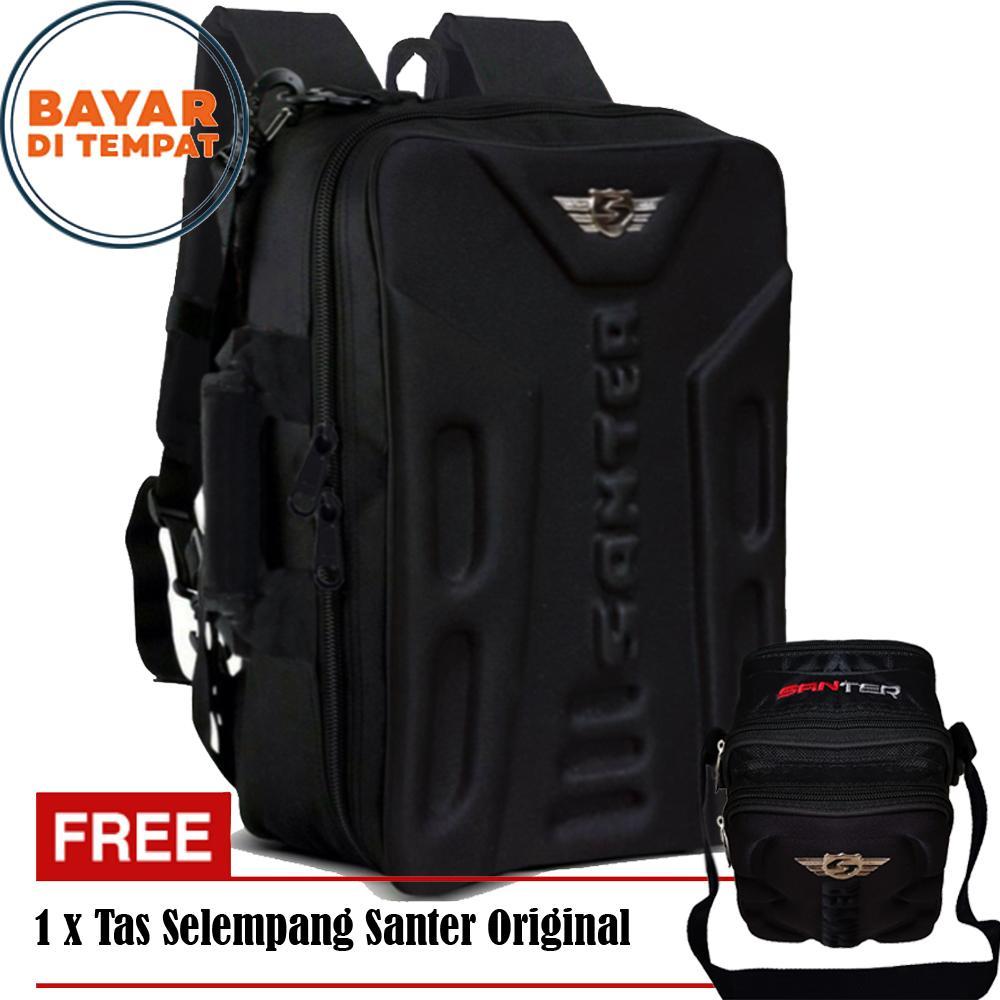 Jua Tas Ransel Dompet Pria Waistbag Distro Bandung 03b Promo 99 Santer Emboss Free Selempang S007