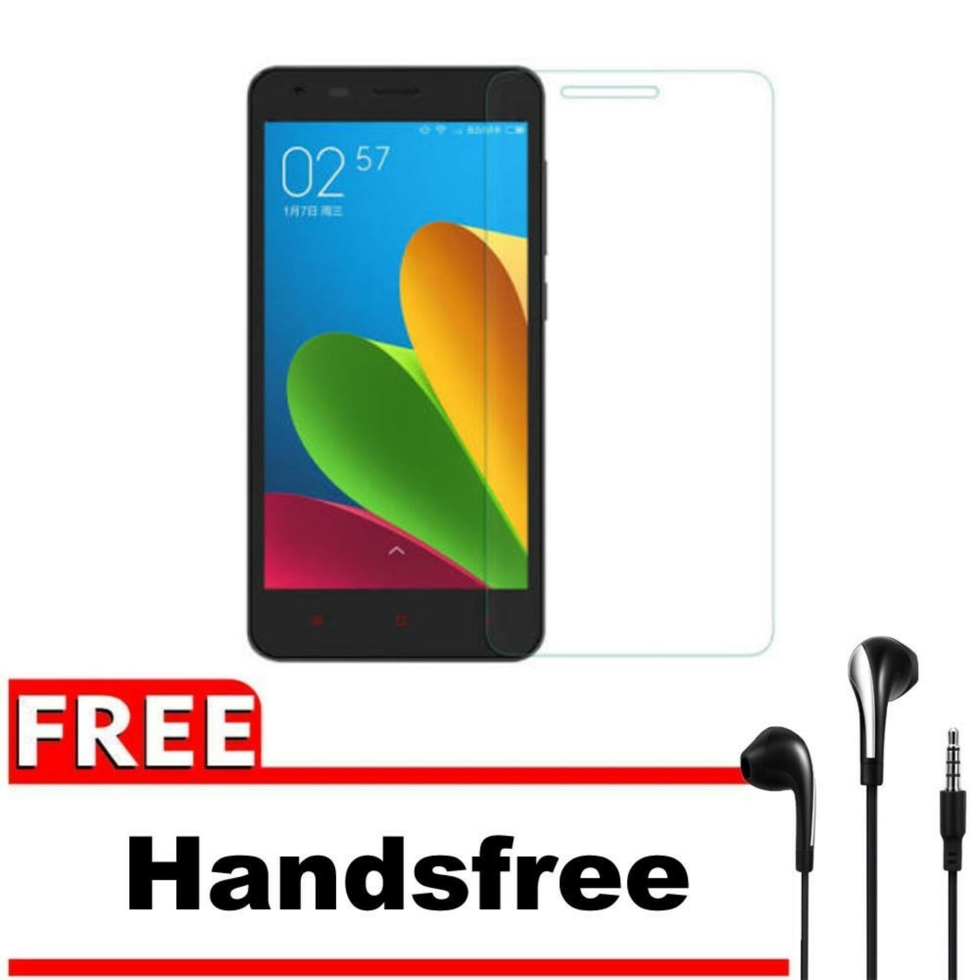 ... Tempered Glass 9H Screen Protector 0.32mm + Gratis Free Handsfree Earphone Headset Universal - Bening TransparanIDR14453. Rp 14.453