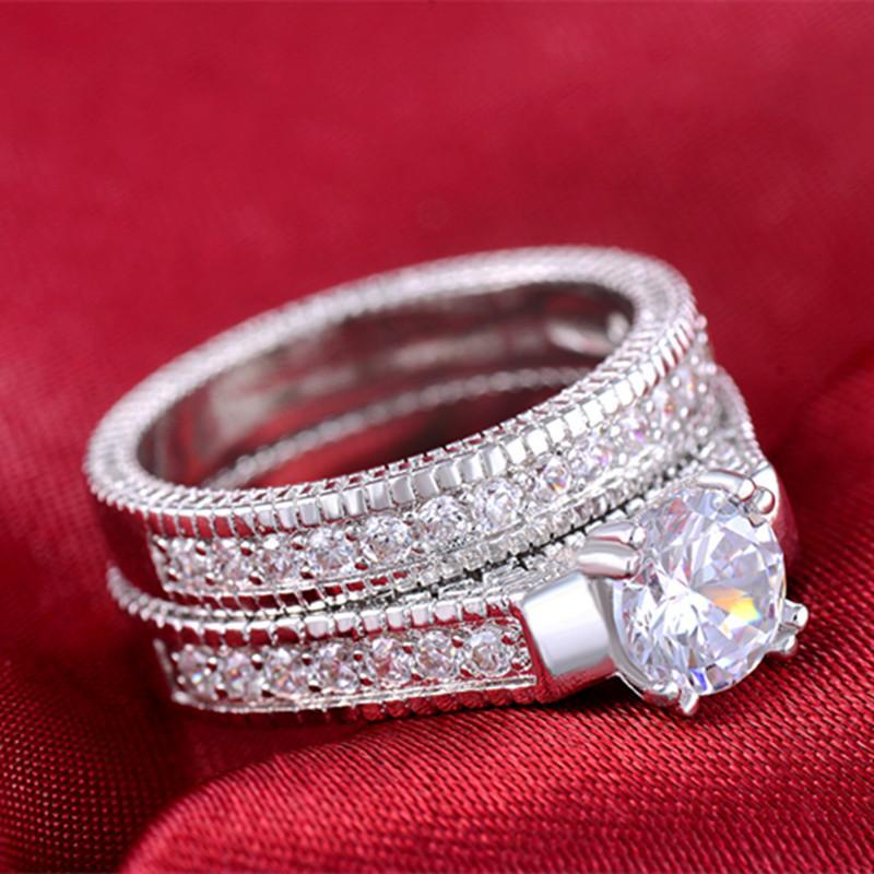 Diskon Promo Perhiasan Aksesoris Cincin Berlian Lapis Emas Putih Perhiasan Kalung Gelang BR083 Murah