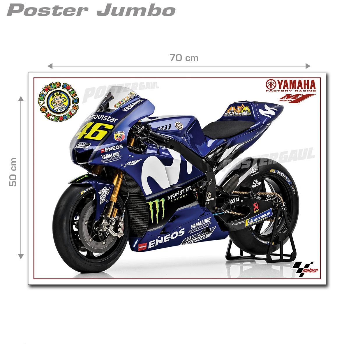 Poster Jumbo: MOTOGP 2018 YAMAHA YZR-M1 #MGP10 - ukuran 50 x 70