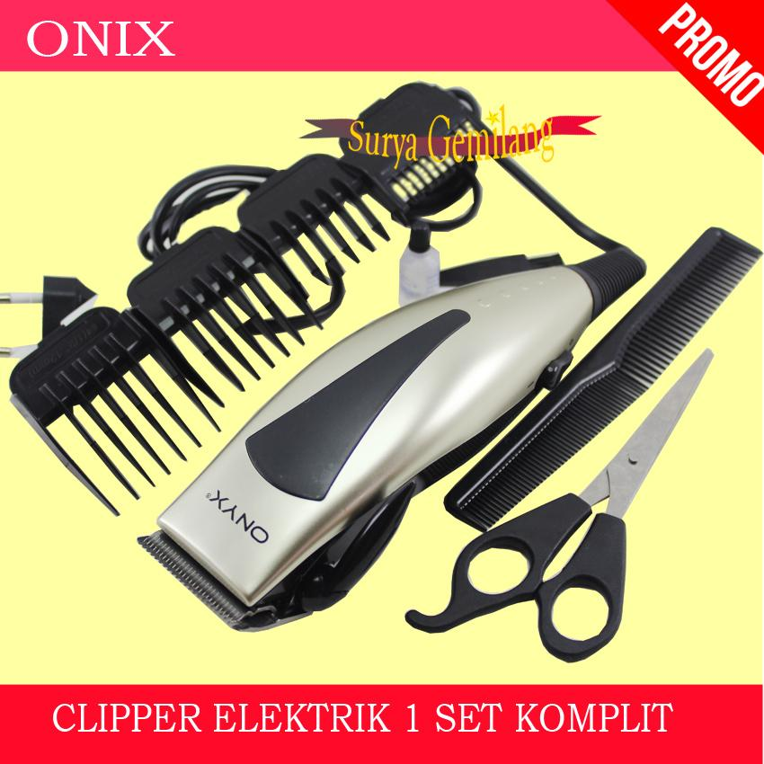 Alat Cukur Rambut Onyx 4607   Hair Clipper Elektrik Set   Mesin Pencukur  Rambut Komplit 0ee16caa29