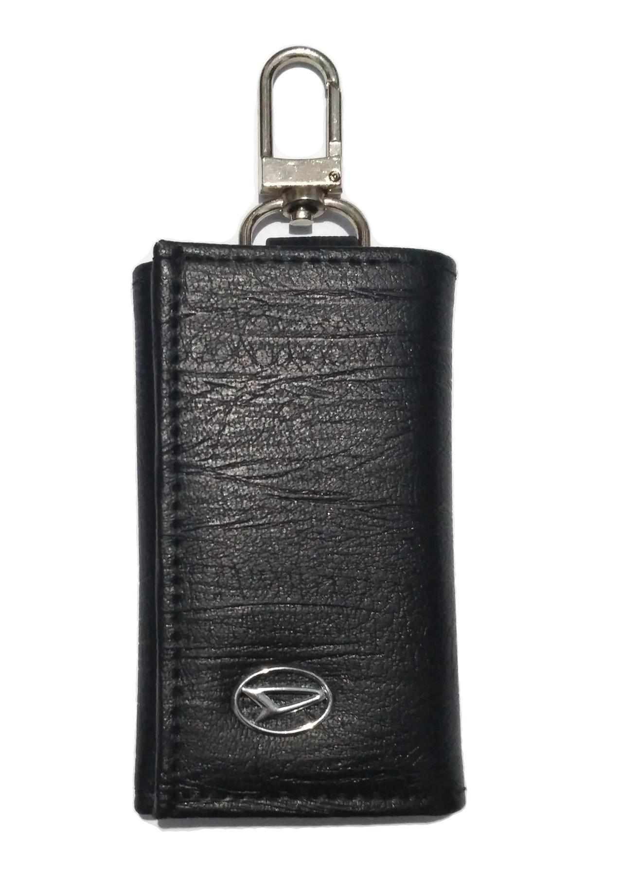 Dompet STNK - Gantungan Kunci Mobil DAIHATSU Motif serat halus Bahan  berkualitas - Hitam b91415e6d1
