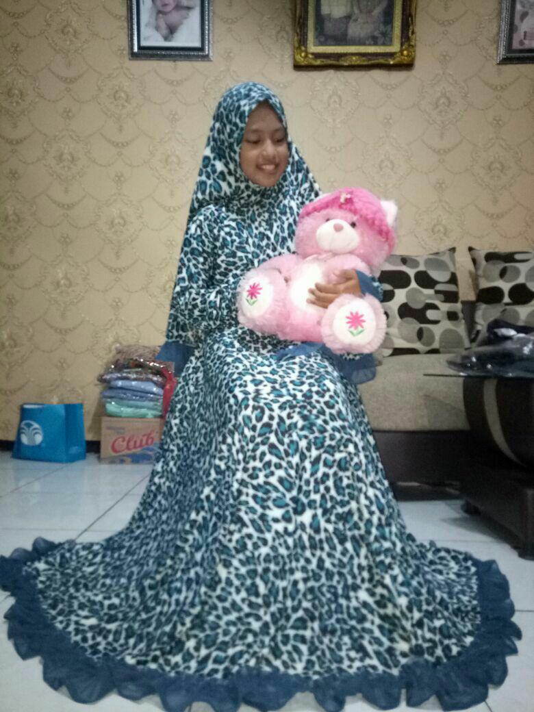 Nurulcollection-Baju dress anak perempuan murah/gamis syari anak motif size 9-11tahun