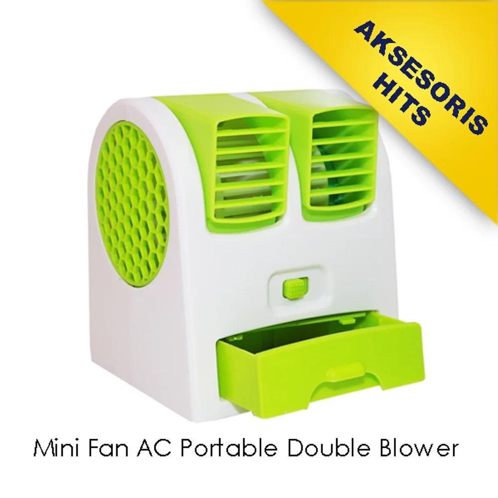 Mini Fan Ac Portable Double Blower By Yogi.fine.
