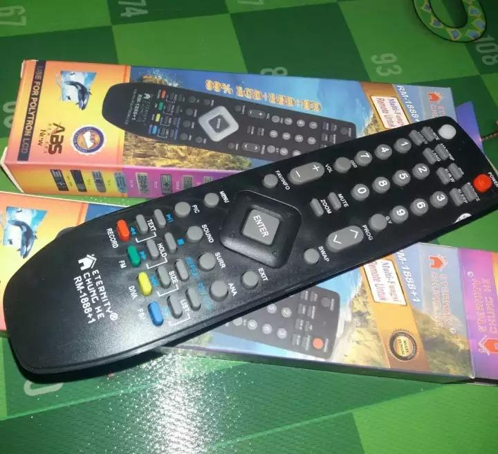 Remot TV khusus semua tv polytron universal tv lcd led atau tabung polytron tanpa program langsung on bisa juga untuk lainya seperti lg sharp panasonik toshiba philips dll