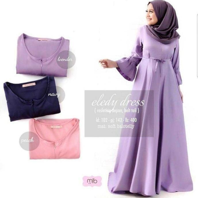 Terbaik Gamis Syari Eledy Dress | Baju Lebaran Muslim Wanita Anak Pria Muslimah Couple Gamis Pesta