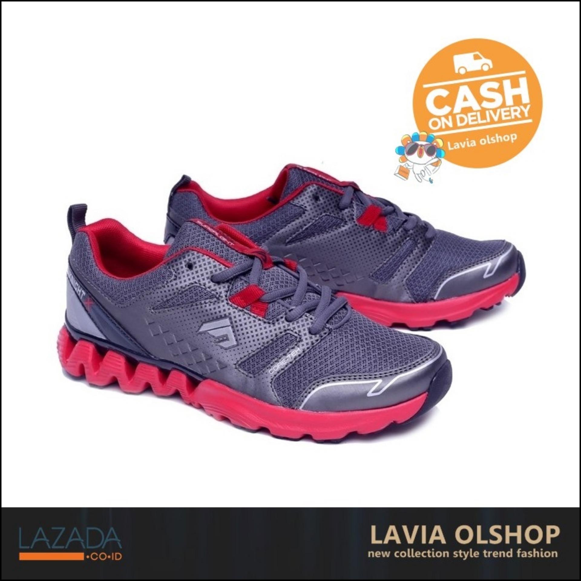 Shoes Sepatu Sport Pria Keren Dan Modis Model Terbaru GRE 7013 - Abu-Abu dab976cba0