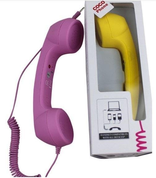 Cocophone Headset Anti Radiasi Hp Laptop Model Gagang Telepon - KSY107