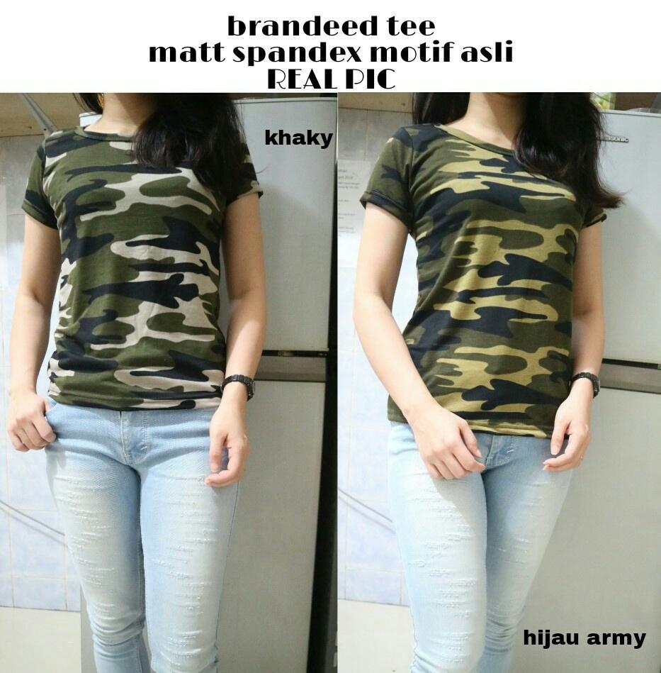 J&C Brandeed Tee / Baju Pendek Wanita / Kaos Pendek / Atasan Model Crop Tee / Baju Santai Wanita / T-Shirt Wanita / Crop Tee / Kaos Lengan Pendek / Kaos Spandek