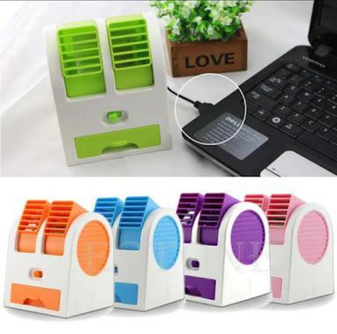 AC Mini Portable Double Cooler Fan / Kipas Angin Aromaterapi Parfum Limited Edition