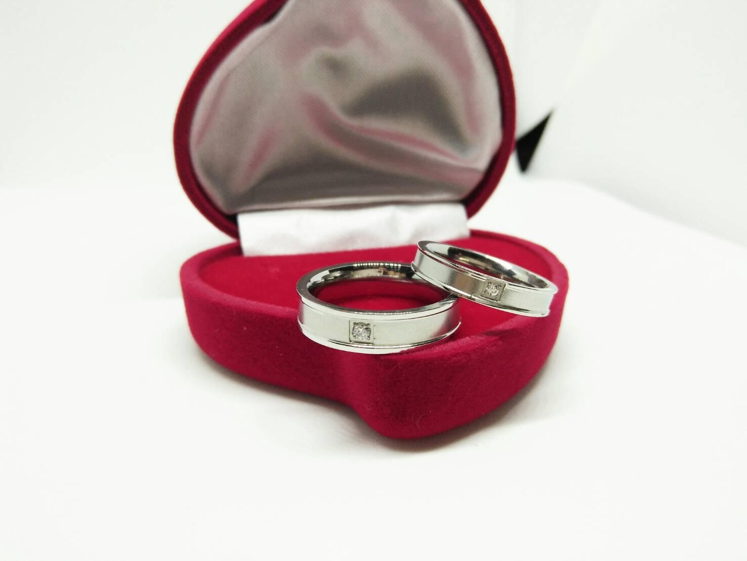 cincin couple / cincin tunangan / cincin nikah titanium anti karat dan hitam - 99