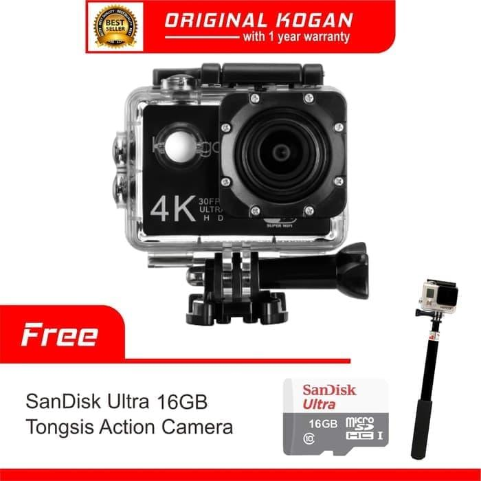 PROMO  Kamera KOGAN Action Camera 4K UltraHD 16MP WIFI Tongsis + Memory 16GB  TERLARIS