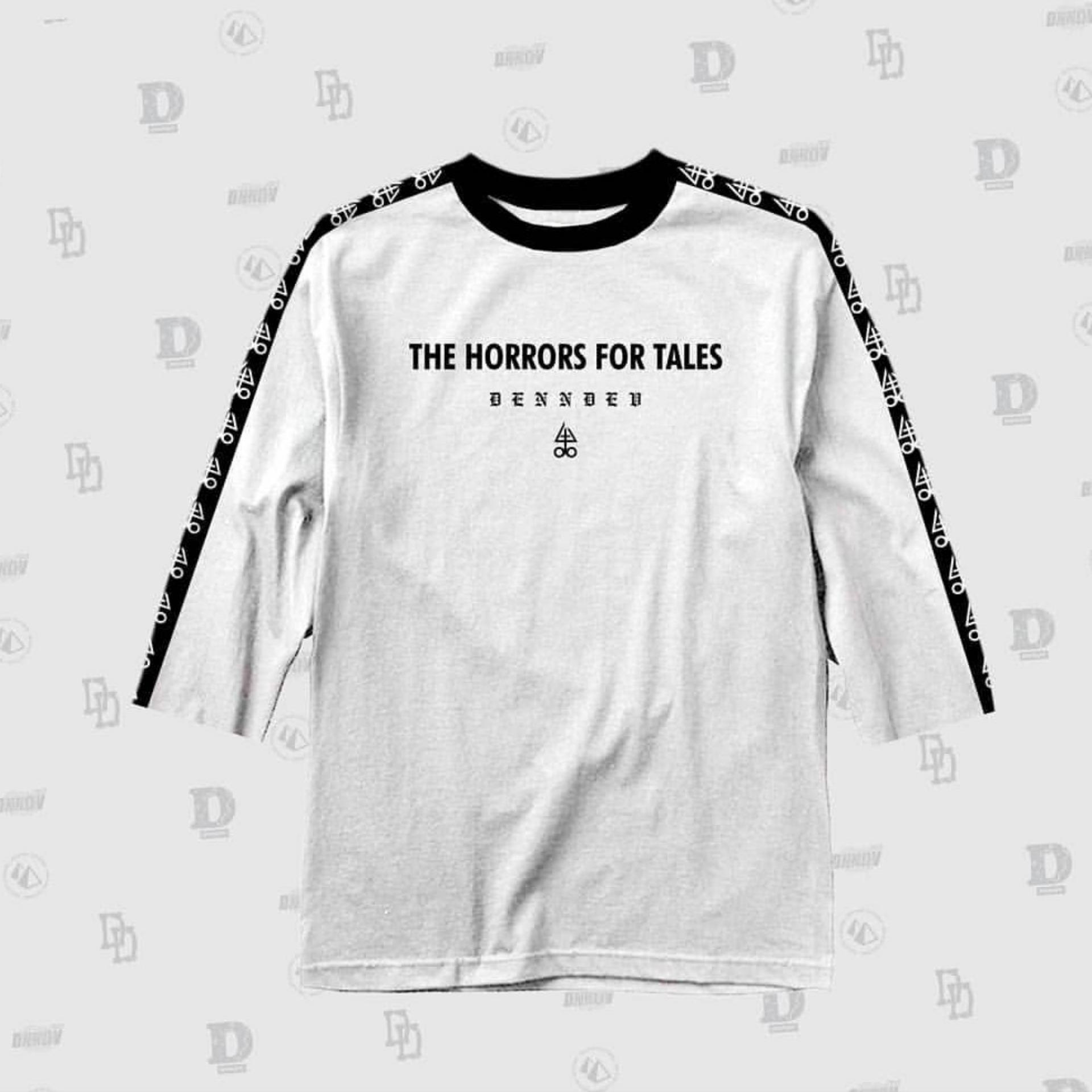 HIGH5 Fashion Pria Kaos 3/4 DND THE HORROR Putih