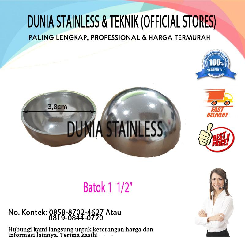 Batok stainless steel 1 1/2 aksesories stainless steel tangga pagar