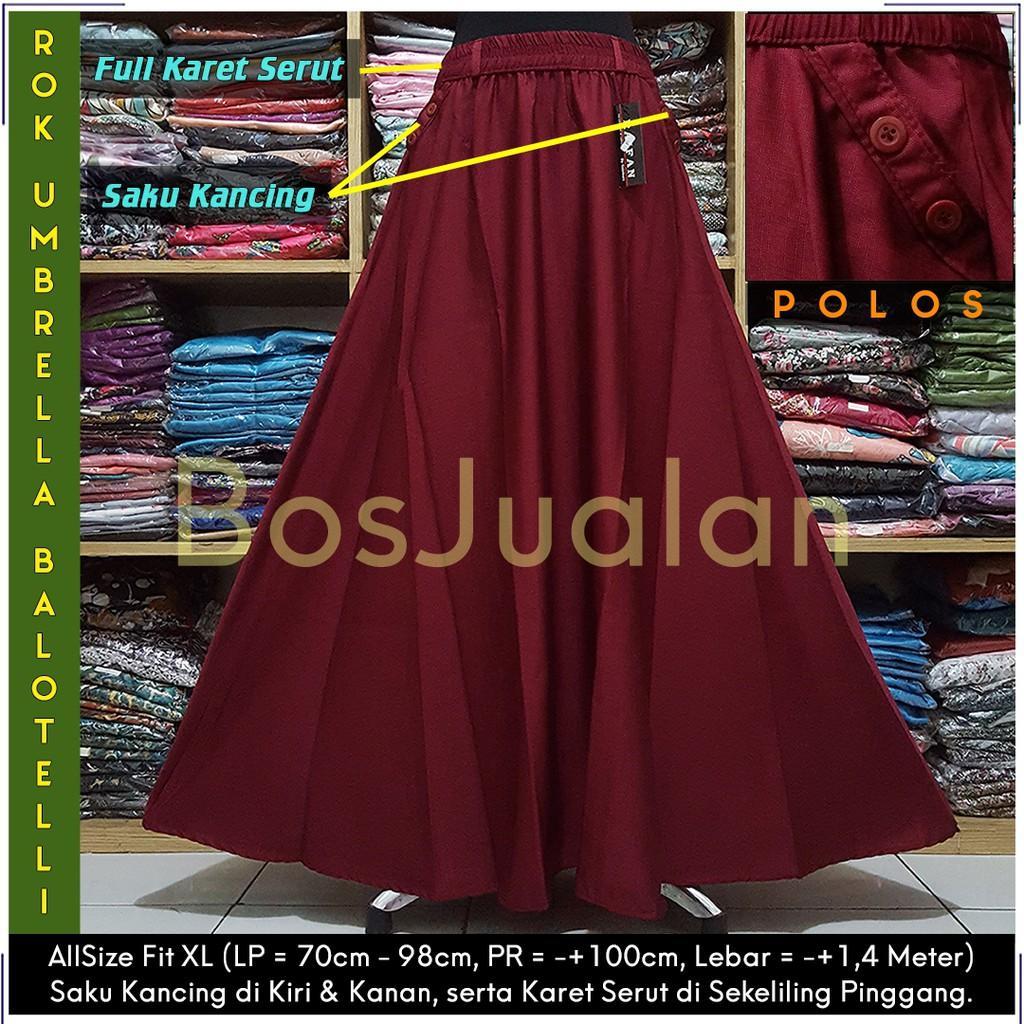 Rok Balotelli / Rok Polos Panjang / Rok Lebar / Rok Payung / Rok Maxi Skirt