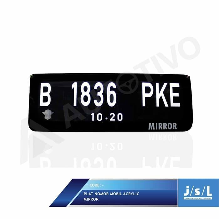 Plat Nomor Mobil Custom Stiker Frame Akrilik Lampu Depan Belakang