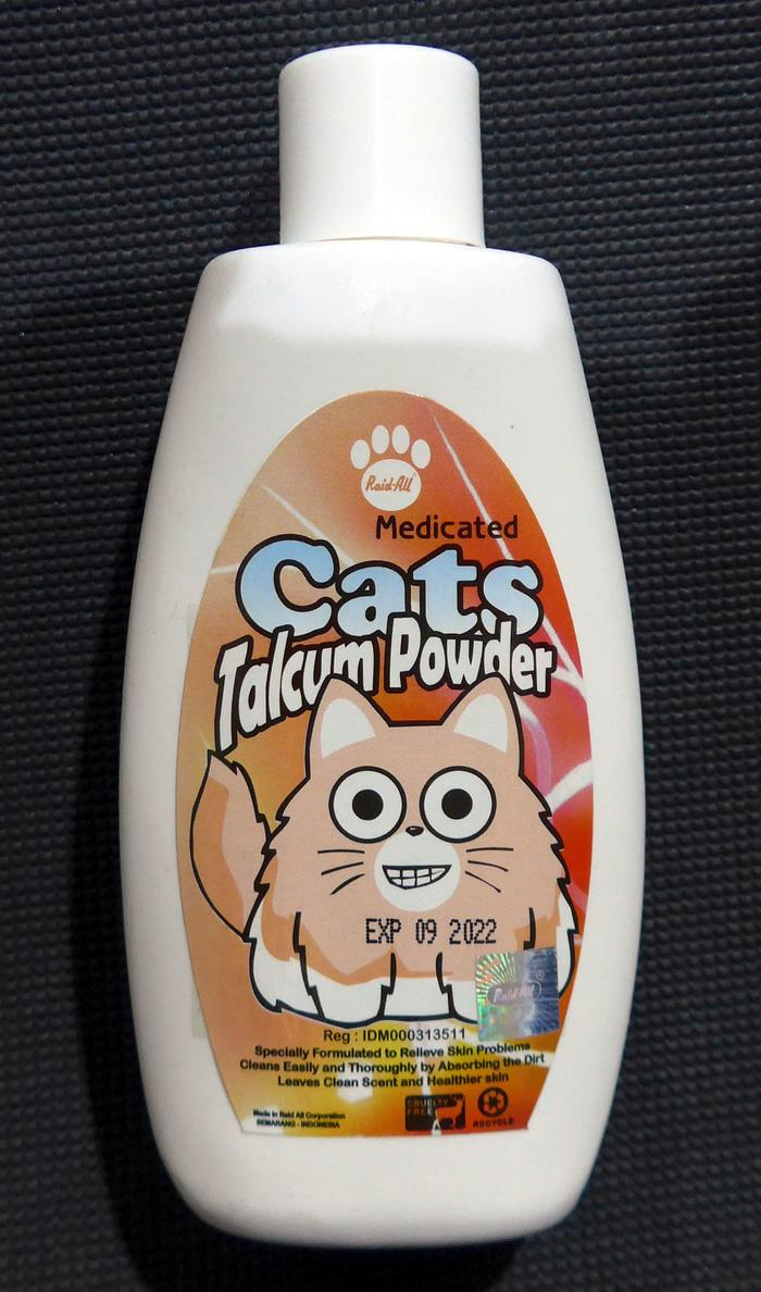 Paling Laku Bedak Kucing   Raid All  Cats Talcum Powder  Medicated