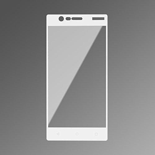 HMC Nokia 3 - 2.5D Full Screen Tempered Glass - Lis White