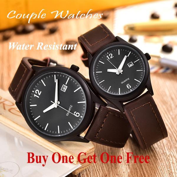 Jam Tangan Couple - Pria dan Wanita - AB-8076GL-BB-Dark Brown 568fbfc51f