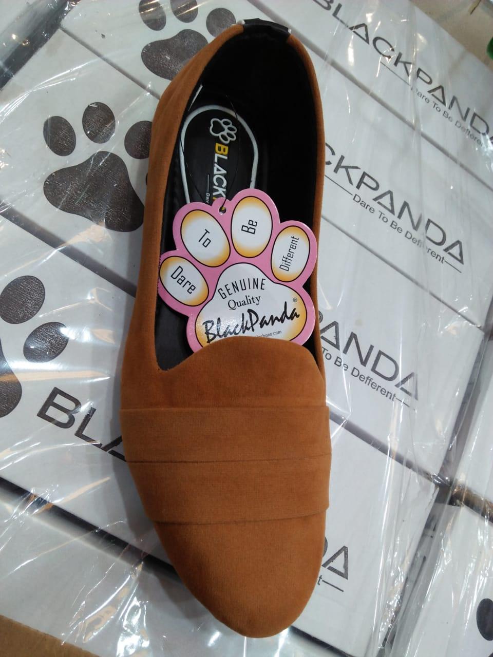 Sepatu Black Panda Coklat Garis Dua