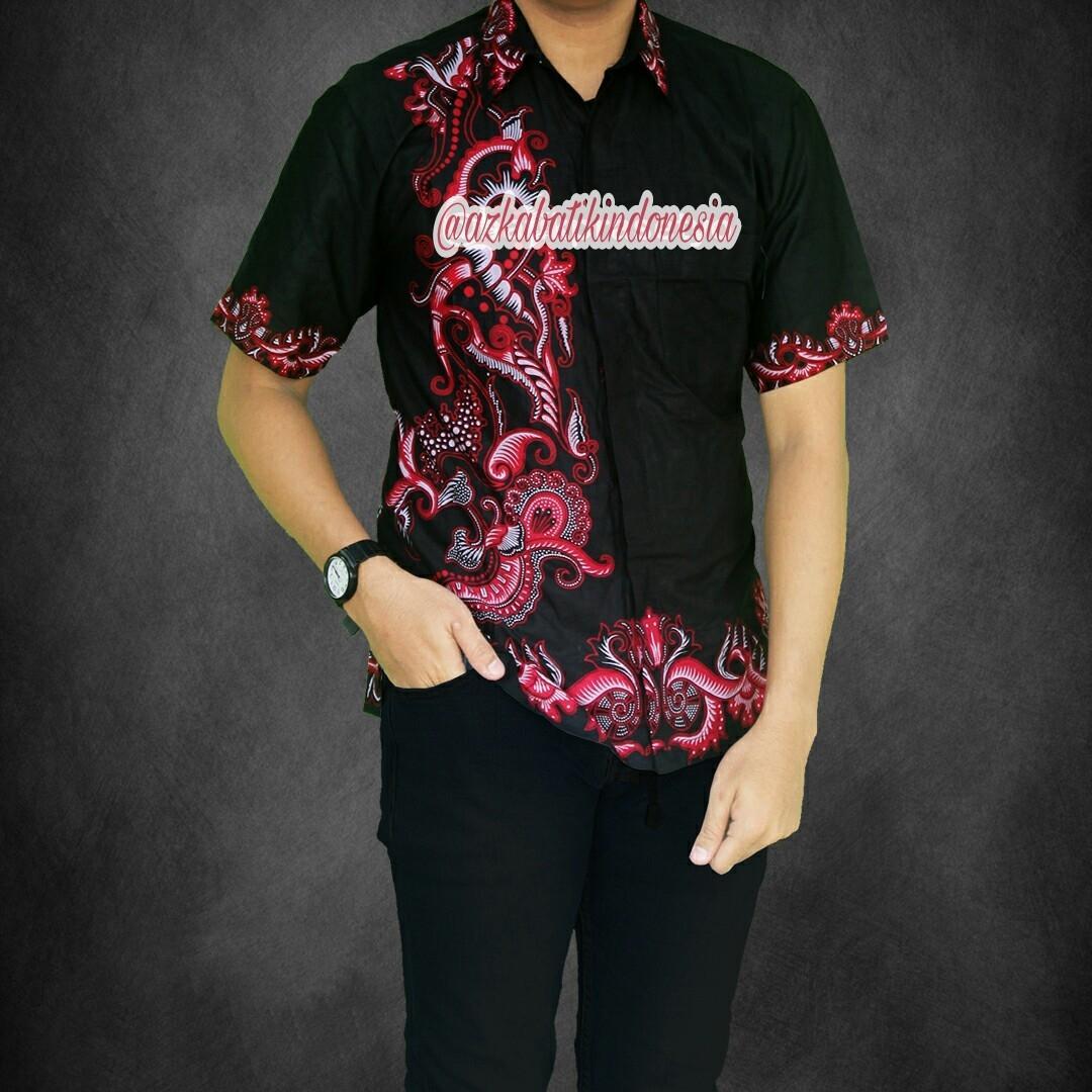 Baju Batik Pria Casual TerbaruKemeja Batik Pria Modern Terbaru Hem Batik Pria Kombinasi Seragam Batik Pria Terbaru Azka Batik
