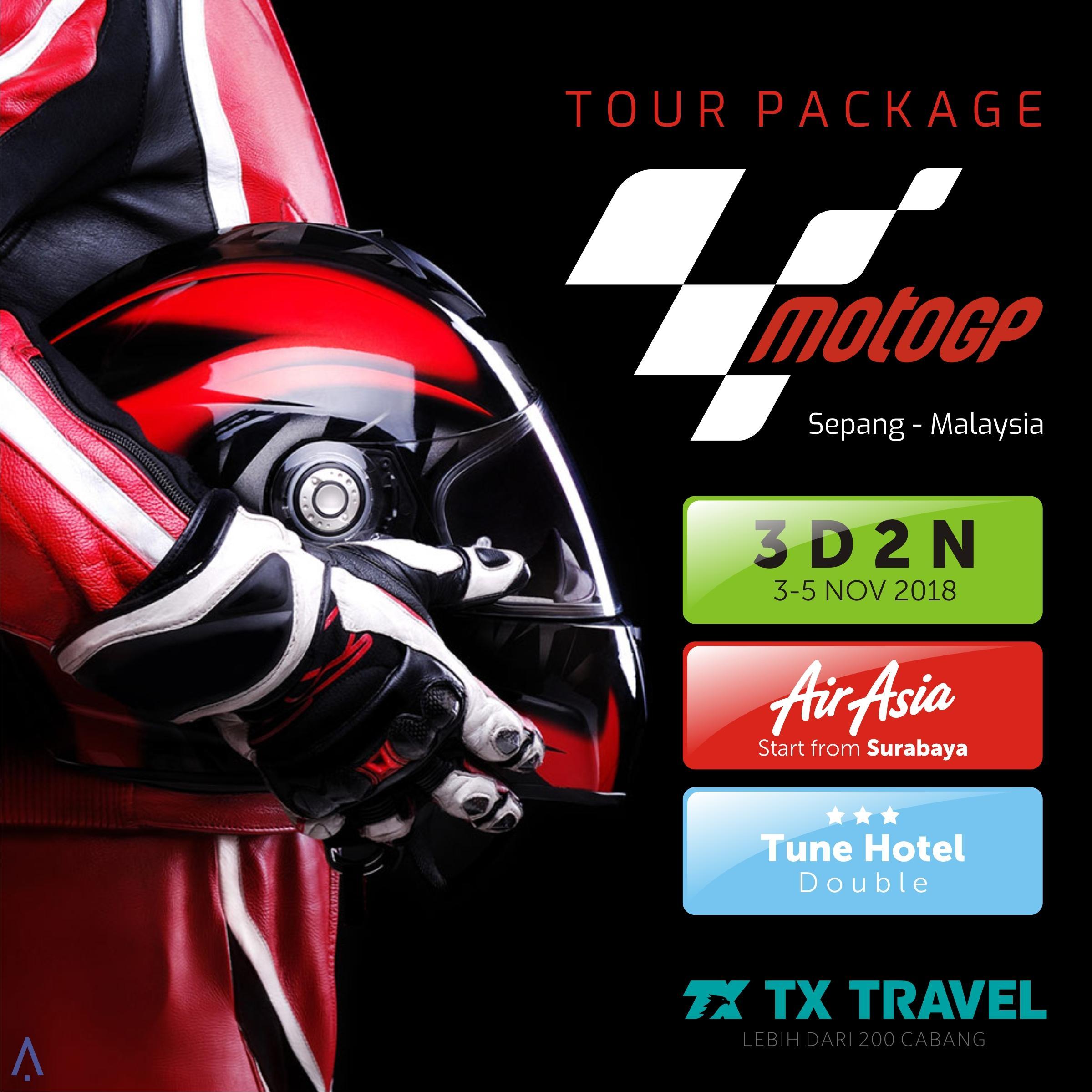 Paket Tur Murah MotoGP Sepang 3D2N (Surabaya)/Tiket MotoGP