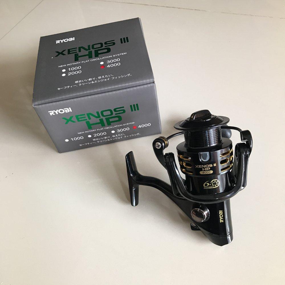 Reel Ryobi Xenos lll HP 4000 power handle  TERBARU BOS PANCING zerya_fishing