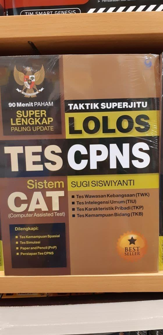 Promo: Buku Taktik Superjitu Lolos Tes Cpns . Sistem Cat . Sugi Siswiyanti - ready stock