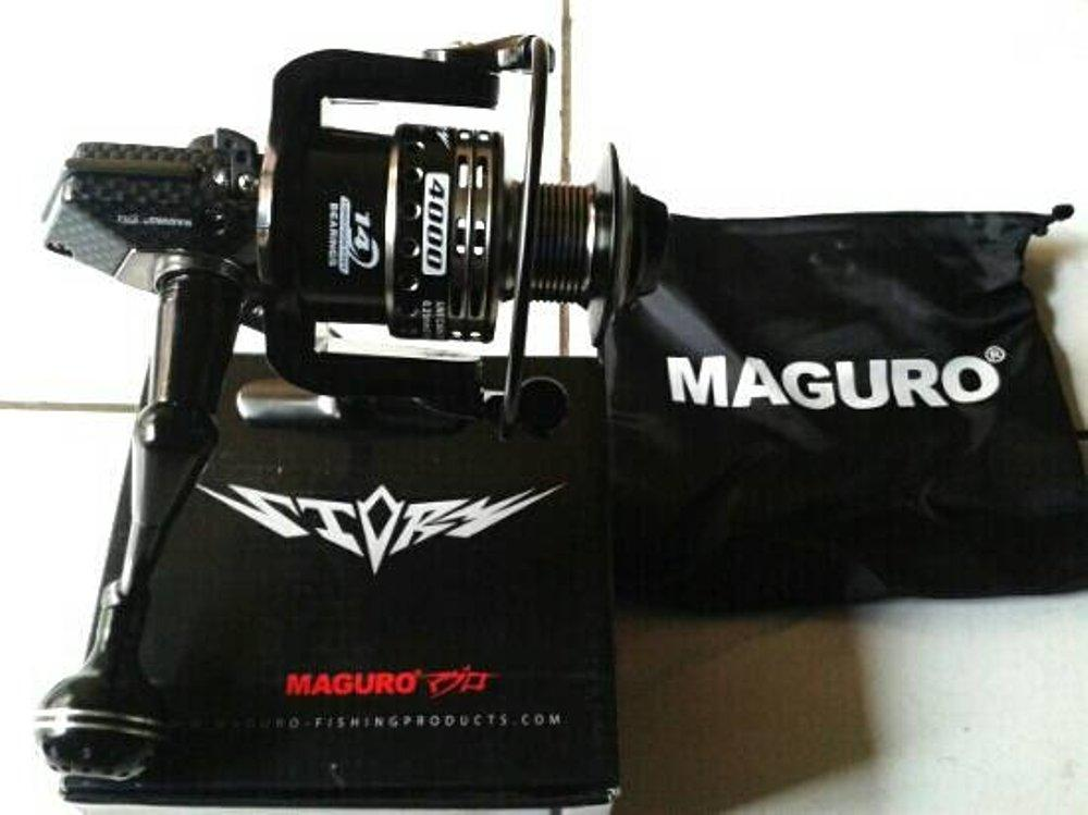 Reel Spinning Maguro Storm 4000 14 Bearings Aluminium Power Handle
