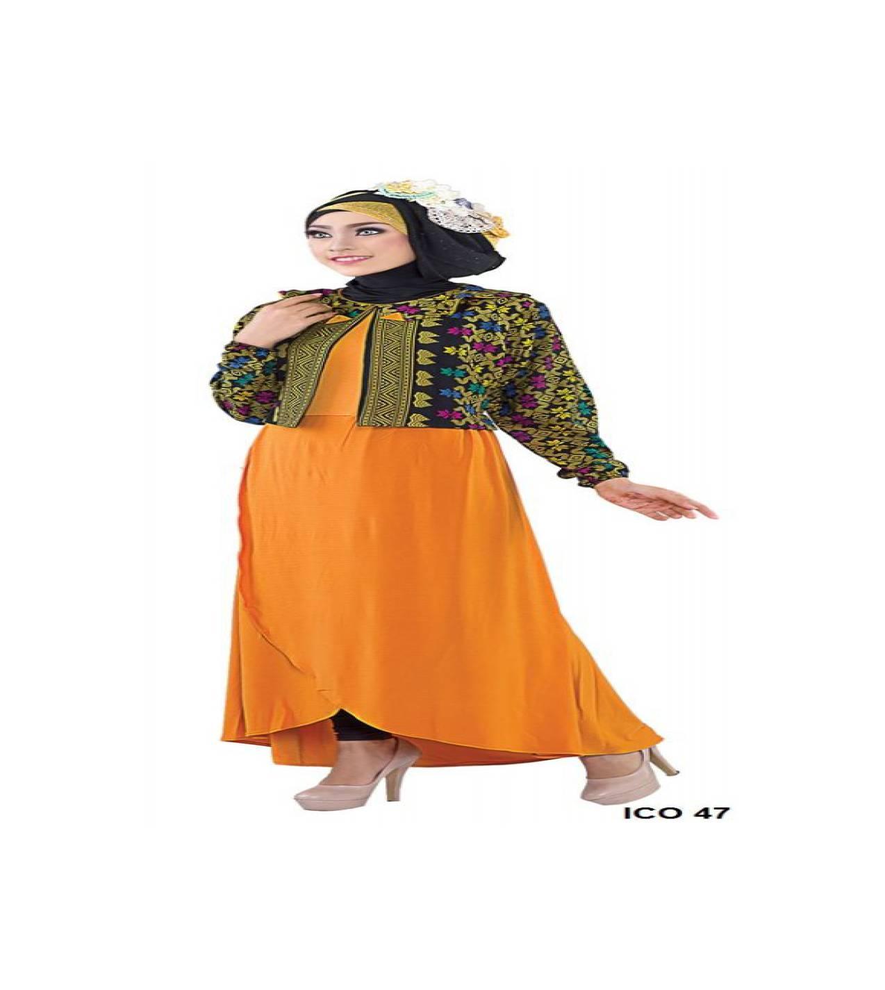 GFP - Gamis Dewasa Jersey Batik Batik Kuning ICO 47