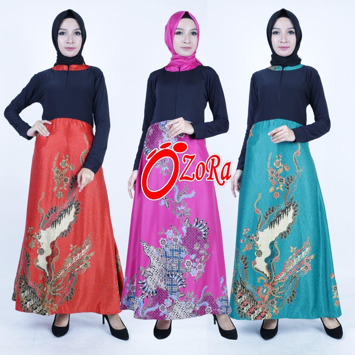 Gamis Batik Silky Muslim Busui