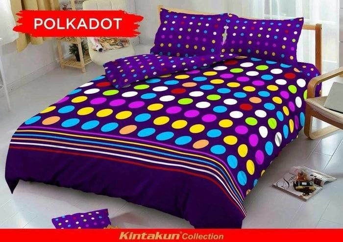 Terbaru!! Bedcover Kintakun D'Luxe 180 X 200 Polkadot - ready stock