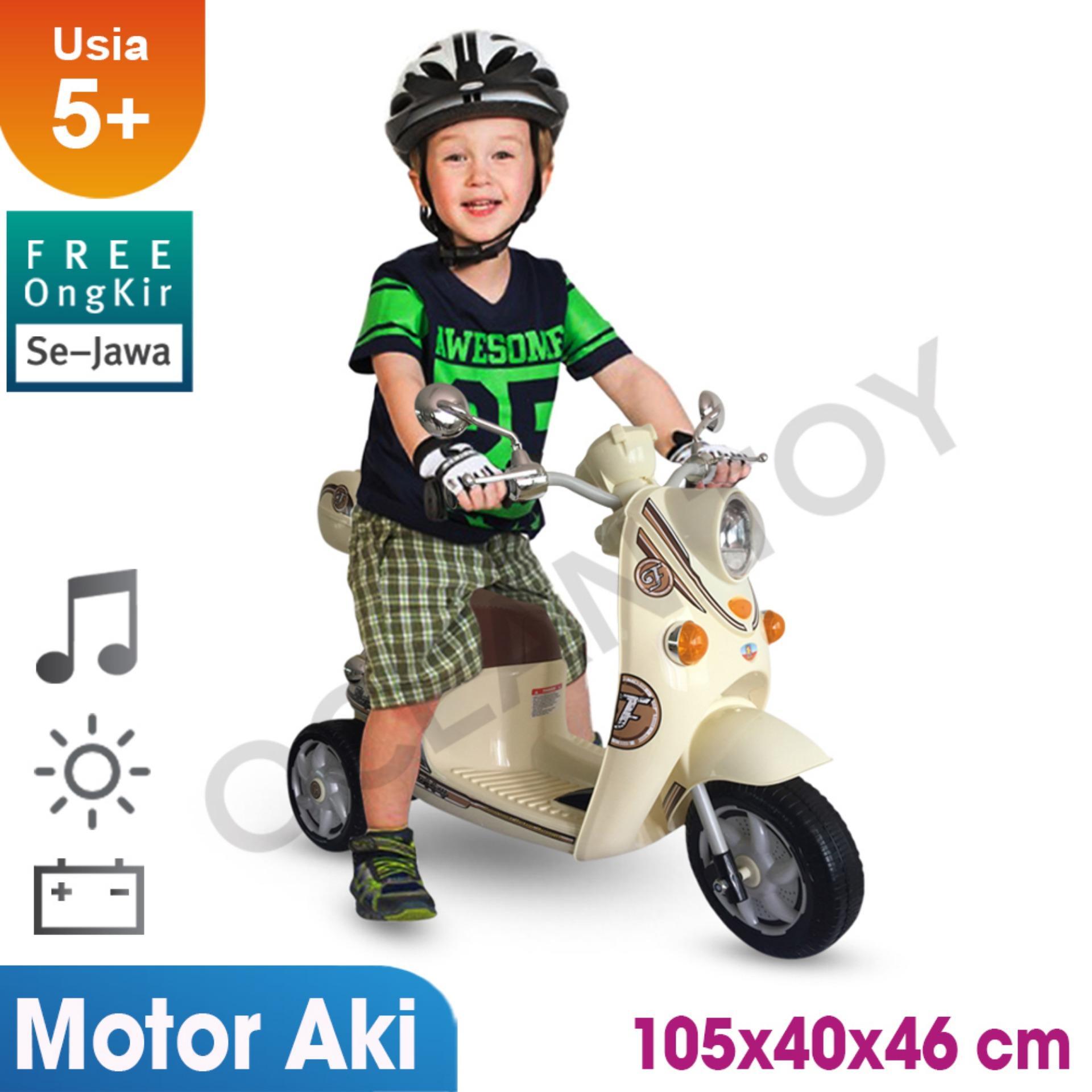 Motor Scoopy / 100% Free Ongkir Khusus Pulau Jawa / Ocean Toy / Pmb / Ride On / Motor Aki Scoopy Mainan Anak M338 By Ocean Toy.