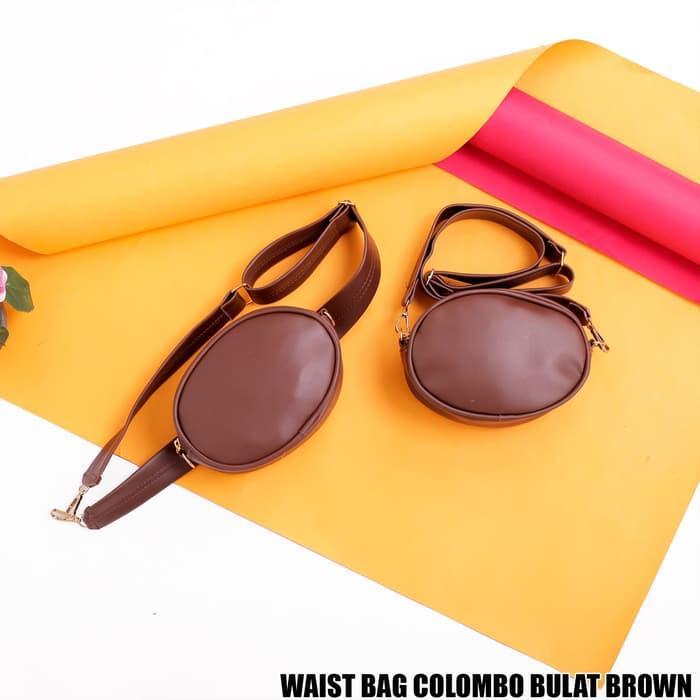 tas waist bag wanita WAIST BAG COLOMBO BULAT BROWN