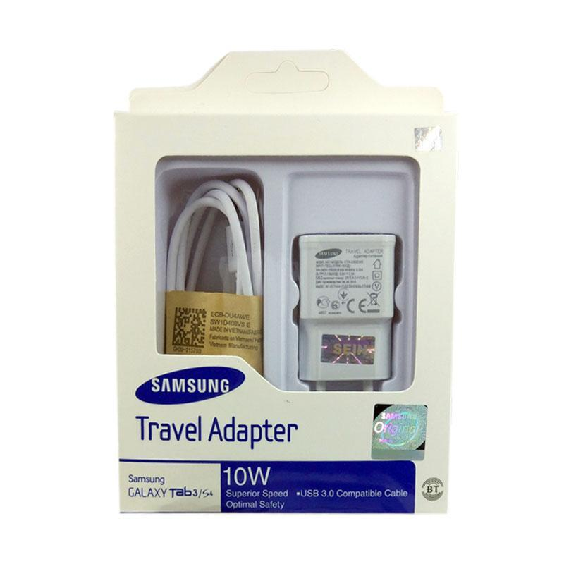 Samsung Travel Charger Galaxy S4/Tab 3 Adapter dan Micro USB Cable - Hitam.