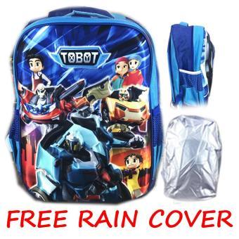Pencarian Termurah BGC Tas Ransel Sekolah Anak SD + Rain Cover Robot Tobot 3D Timbul Hard Cover - Biru harga penawaran - Hanya Rp92.475