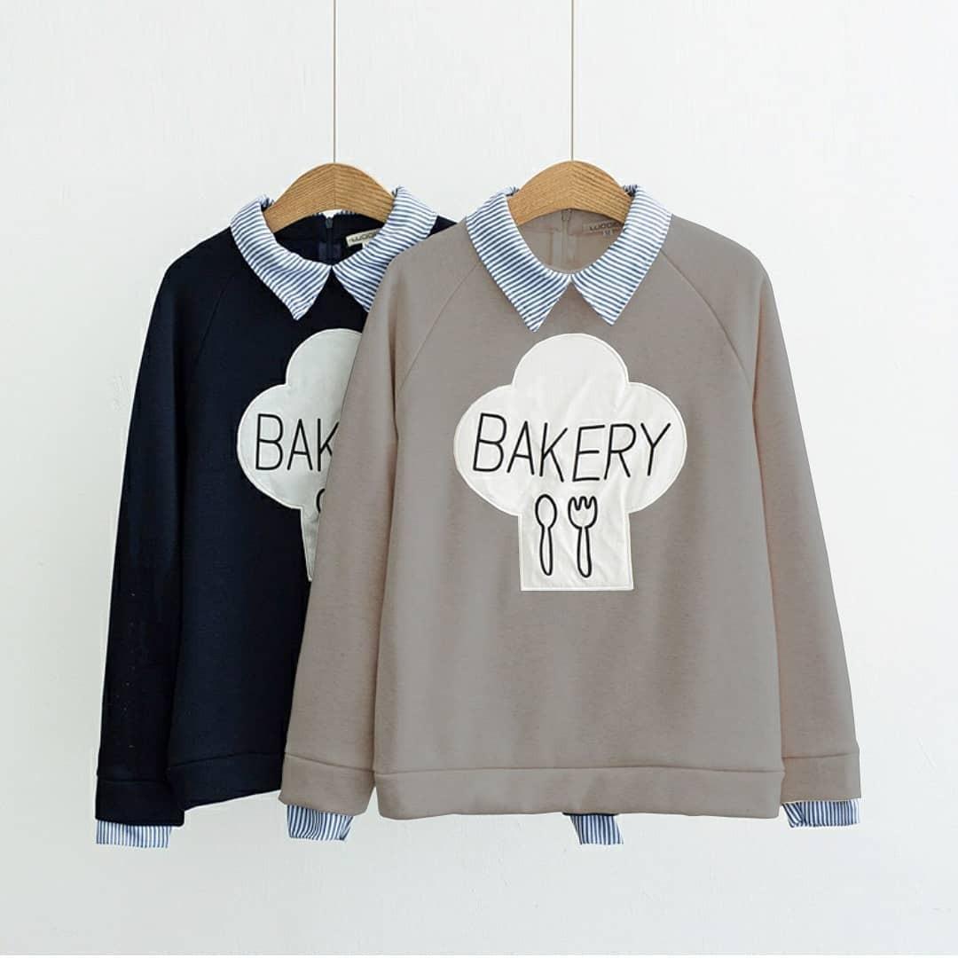 OEM Bakery Sweater Flecee Jaket Hoodie Hangat Pakaian Wanita Muslim Modern Fashion Atasan Cewek Hijab Muslimah