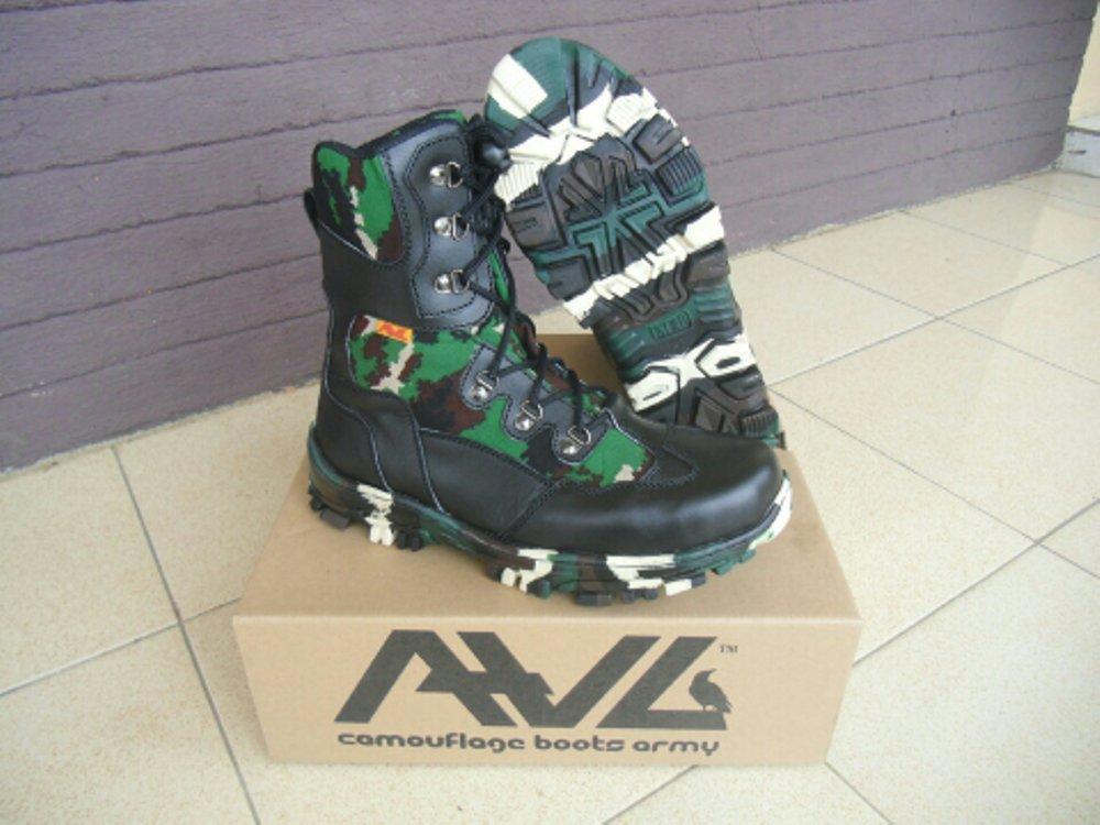 Sepatu boots PDL TNI loreng NKRI merk AWL axlestore