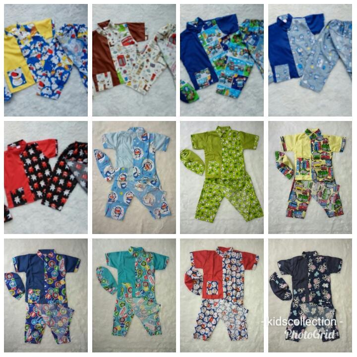 Baju Sarkoci Anak / Setelan Baju Muslim Koko Anak