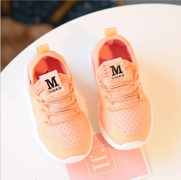 Sepatu putih kecil Sepatu anak 2019 model baru anak-anak sepatu olahraga  anak prempuan permukaan f8f3fe5fb9