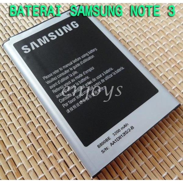 Baterai Samsung Note 3 N9000 N9006 Original Batre hp Galaxy Lama Battery Batray Baru Batere Bateray