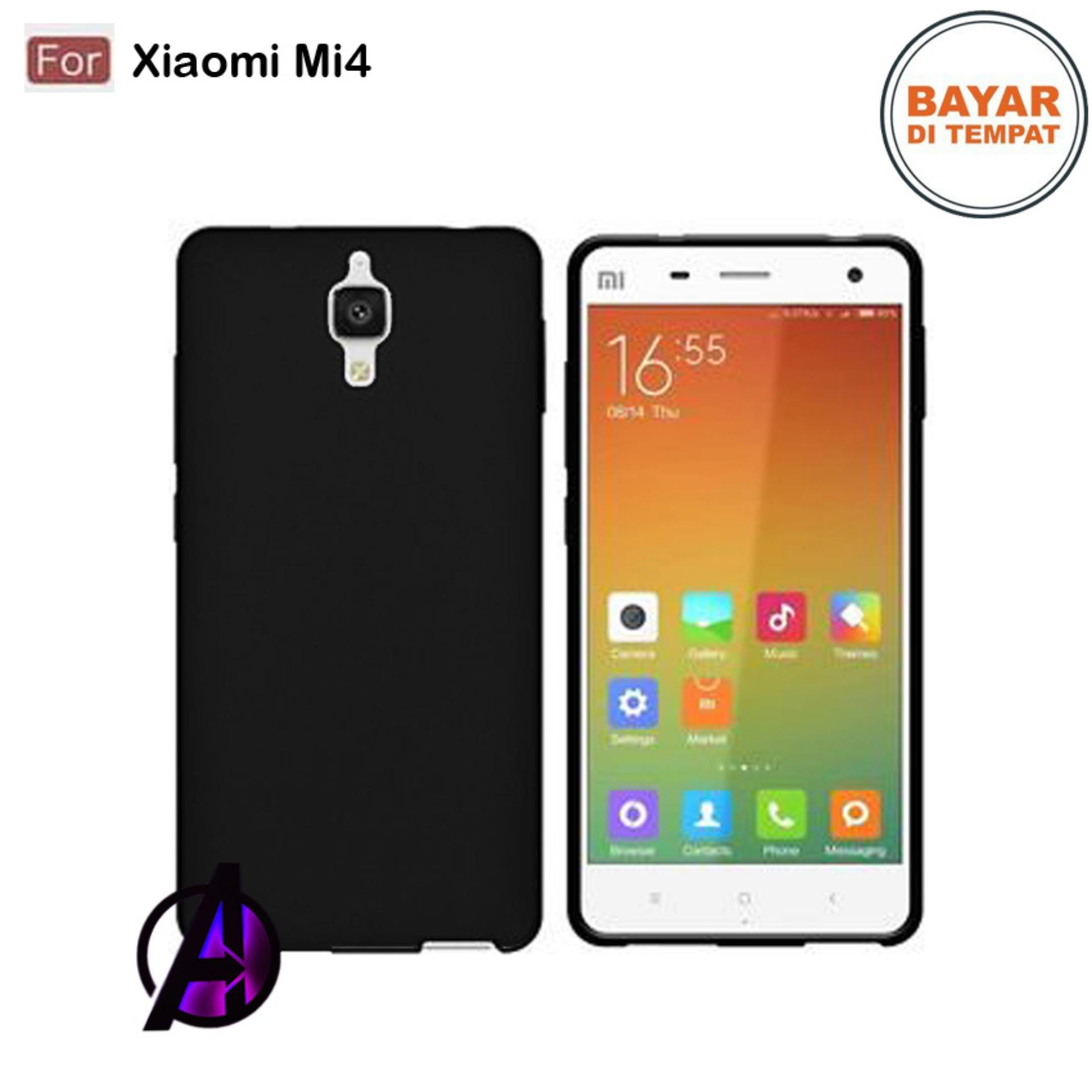 Case Matte Black Soft Slim Casing Handphone Xiaomi 4 / Mi4