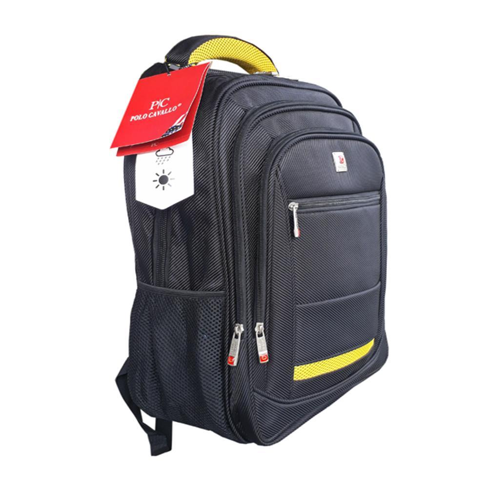Polo Cavallo impor Tas Ransel pria dan wanita tas kerja tas kuliah tas backpack embos Rz03377-18 Polyester Nylon  Original - Raincover