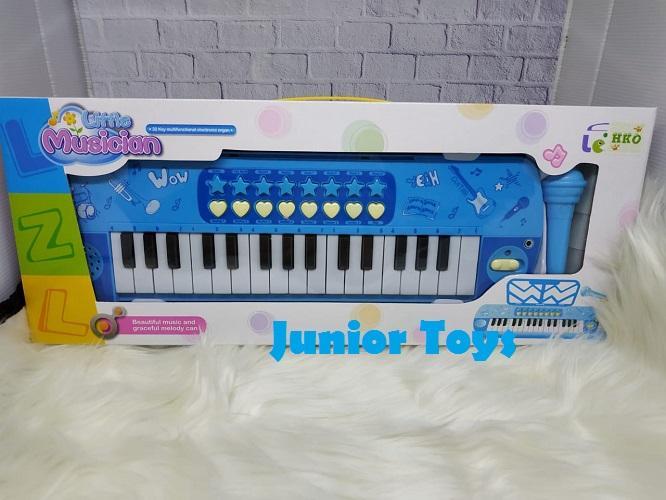 Mainan Keyboard Piano Baterai dan Microphone