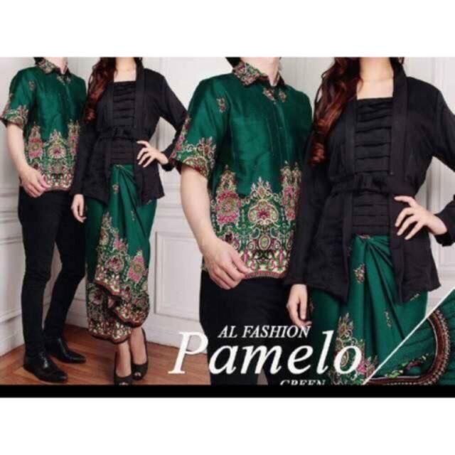 Gamis Wanita  ---- Couple batik PAMELA setelan kebaya atasan batik